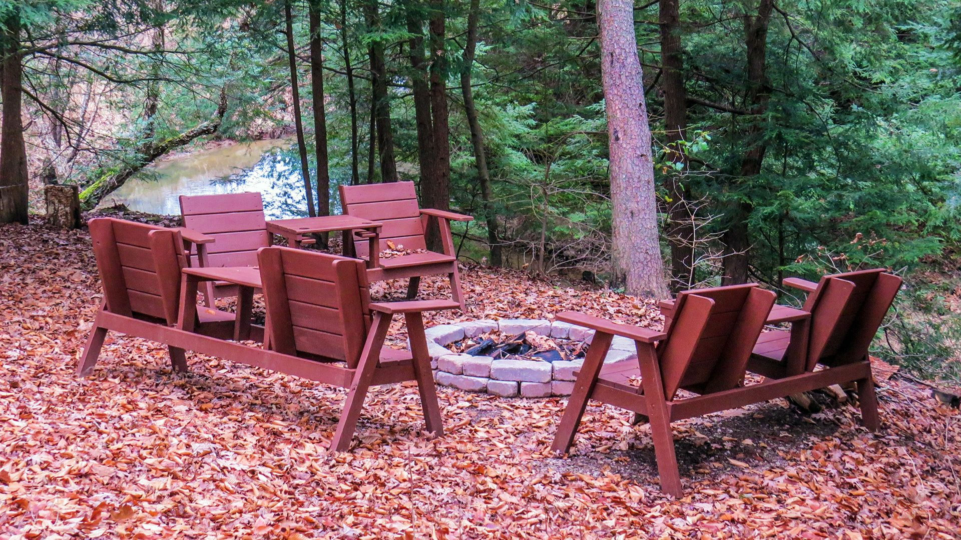 Creek Side Cabin Firepit