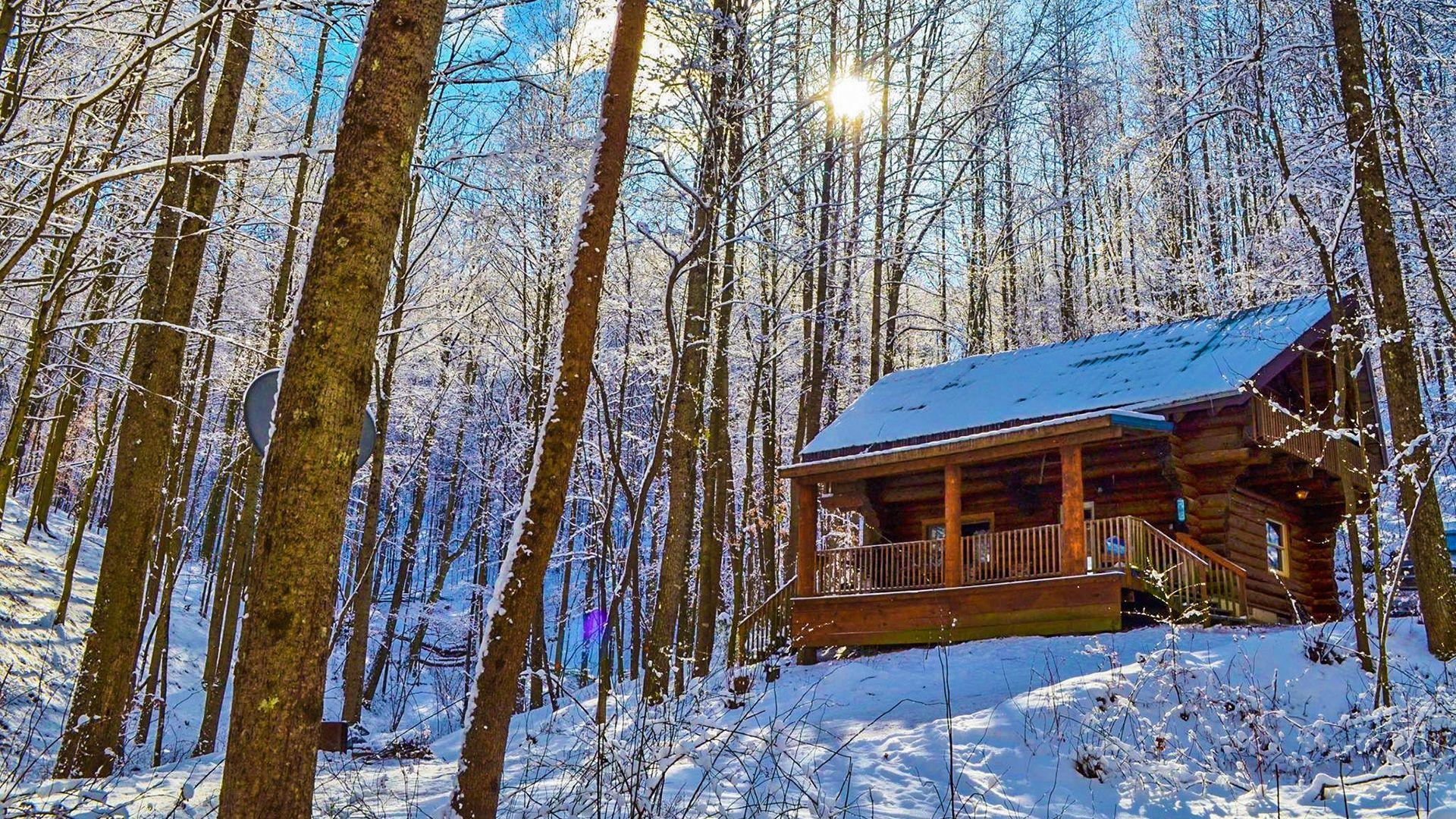 Elkins Pass Cabin in Winter